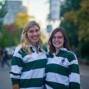 Grad Reps Caroline and Elizabeth